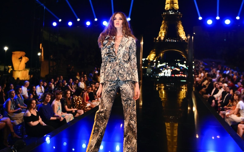 Making the Cut's first runway show, which was held at night in front of the Eiffel Tower
