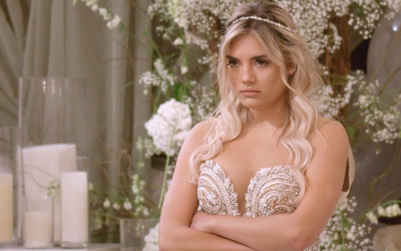 Giannina Gibelli after being dumped at the altar by Damian Powers