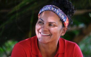 Sandra Diaz-Twine on Survivor: Winners at War's second episode, on which she did compete in a challenge, though she has now tied the record for all-time challenge sit-outs