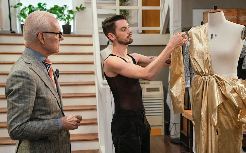 TIm Gunn and Will Riddle in Making the Cut's Paris workroom