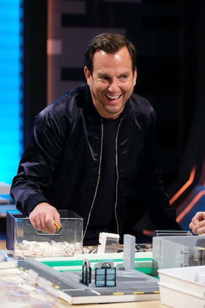 Lego Masters host Will Arnett during the Mega City Block episode of the Fox reality competition