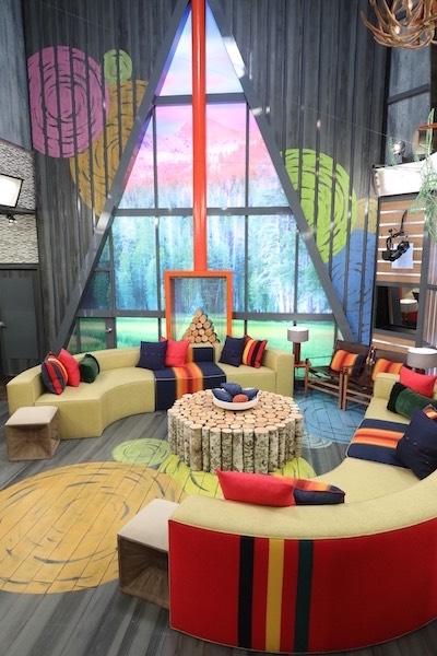 Big Brother's living room, decked out in a wilderness lodge design for season 21. Will there be houseguests here for BB22 this summer?
