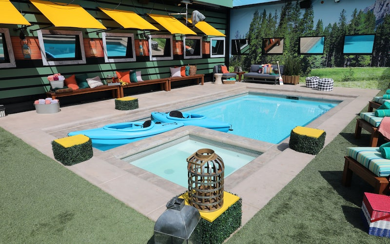 The Big Brother back yard and pool, ready for season 21. Will it be in use for BB22 this summer?