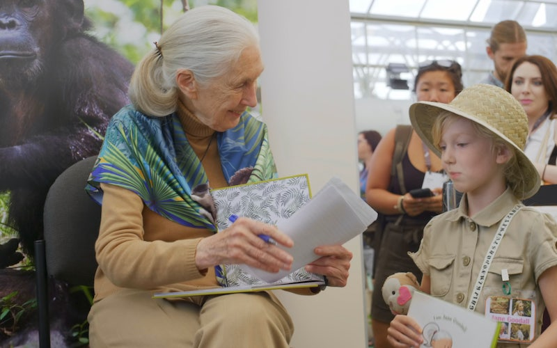 Dr. Jane Goodall at the Esri Conference in 2019, as seen in Jane Goodall: The Hope