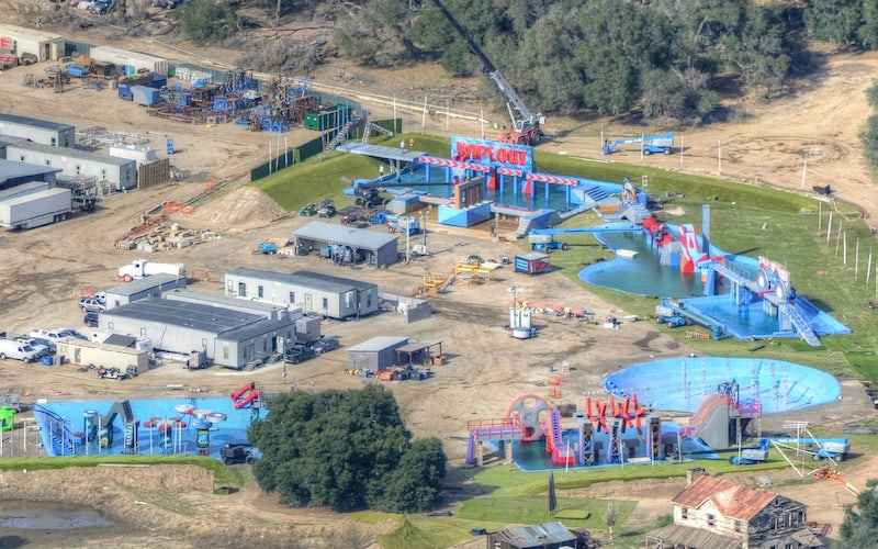 The set of ABC's Wipeout under construction in 2014 at Macmillan Ranch in Humphreys, Calif.