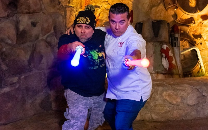 Duff Goldman and Buddy Valastro at Disneyland's Star Wars: Galaxy's Edge
