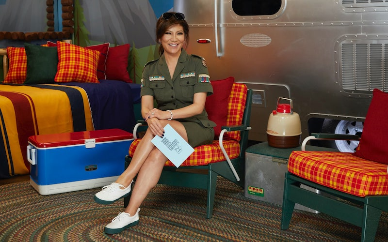 Julie Chen, who will host BB22, on the set of Big Brother 21 last year