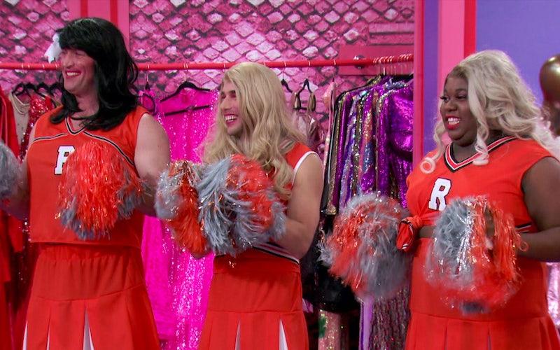 Matt Iseman, Dustin Milligan, and Alex Newell on RuPaul's Secret Celebrity Drag Race