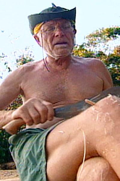 B.B. Andersen carves chopsticks on Survivor Borneo episode 2