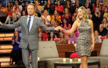 Chris Harrison with newly announced Bachelorette star Clare Crawley