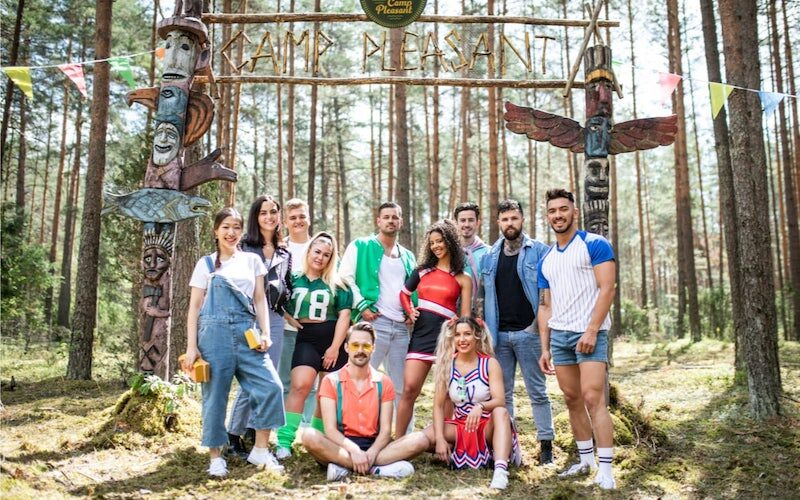 The cast of Killer Camp, which is airing on The CW this summer