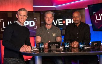 "Live PD host Dan Abrams and commentators Sean ""Sticks"" Larkin and Tom Morris Jr."