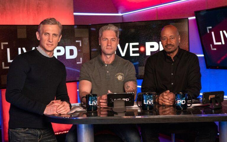 "Live PD host Dan Abrams and commentators Sean ""Sticks"" Larkin and Tom Morris Jr."