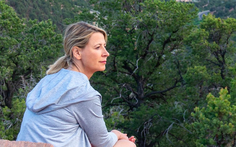 Samantha Brown during the Places to Love season 2 episode filmed in Santa Fe, New Mexico