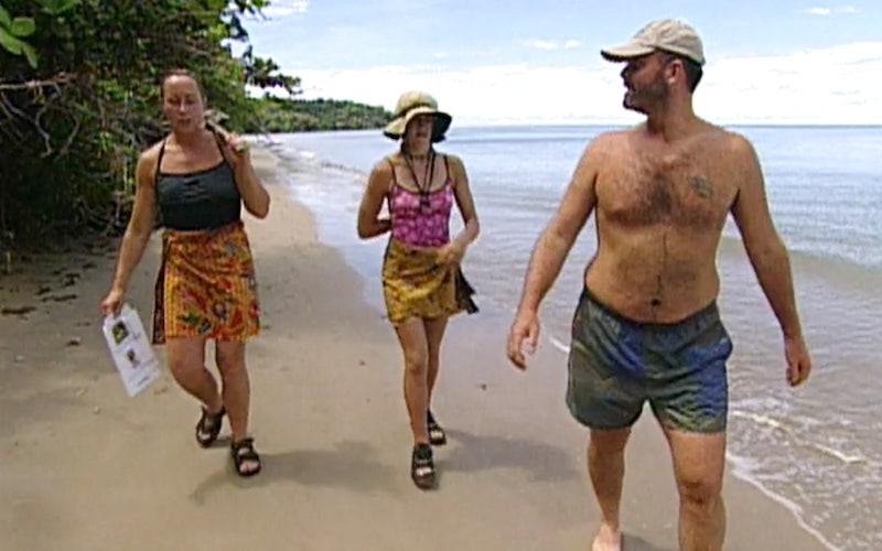 Sue, Kelly, and Rich, the first three members of the Tagi Four alliance, on Survivor Borneo episode 4.