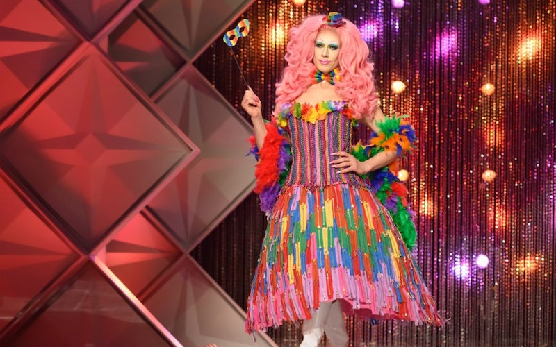 Jimbo's Canuck Couture look on Canada's Drag Race episode 1
