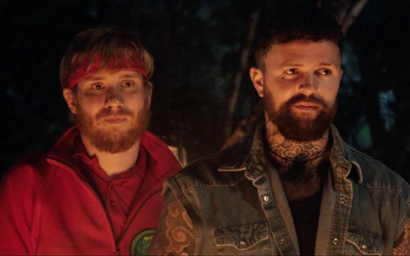 Killer Camp host Bobby Mair and contestant Sam