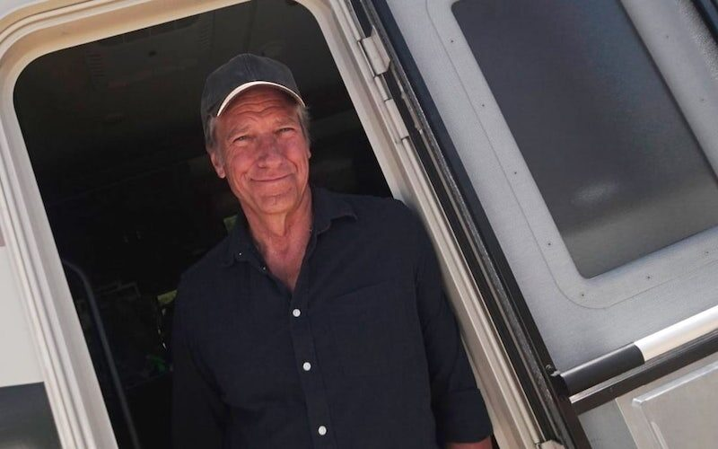 Mike Rowe in the RV that he and a small crew drove around the country for Dirty Jobs: Rowe'd Trip