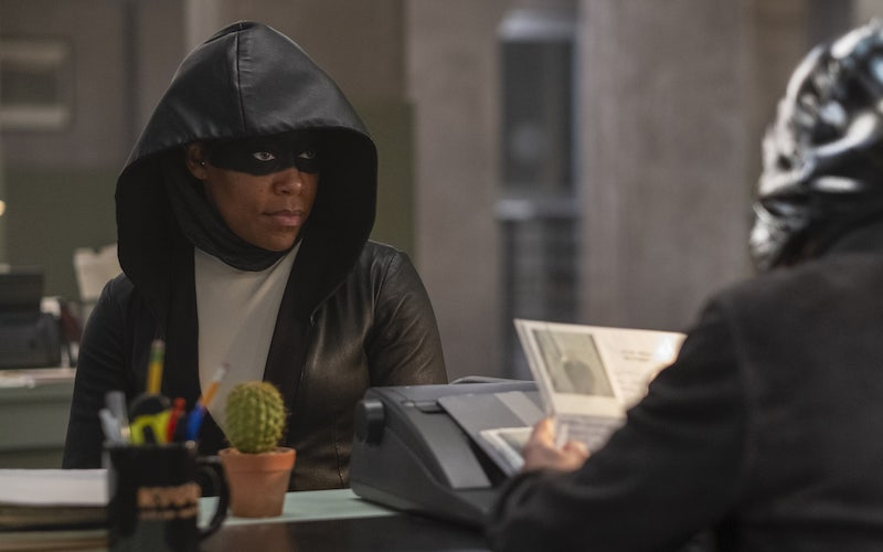 Regina King on Watchmen season five. Both King and the show were nominated for 2020 TCA Awards.