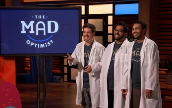 On Shark Tank, Anthony Duncan, Mohammed A. Mahdi, and Mohammed M. Mahdi pitch their company The Mad Optimist during season 11, and their company name is appropriate for Shark Tank and other shows' plans to film in person now