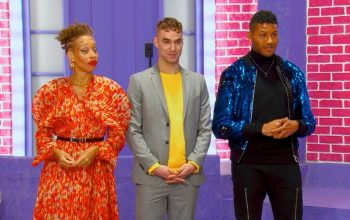 Canada's Drag Race judges Stacey McKenzie, Brooke Lynn Hytes, and Jeffrey Bowyer-Chapman