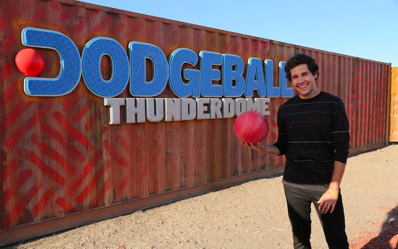 Dodgeball Thunderdome host David Dobrik