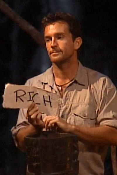 Jeff Probst shows the final vote of Survivor Borneo, revealing that Richard Hatch has won $1 million