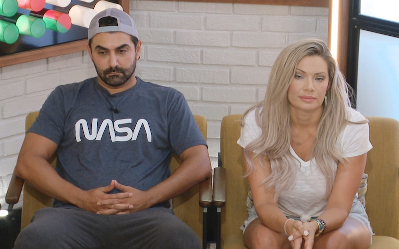 Big Brother 22 nominees Kaysar Ridha and Janelle Pierzina during the Aug. 26, 2020, episode