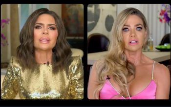 Lisa Rinna and Denise Richards on the Real Housewives of Beverly Hills season 10 reunion