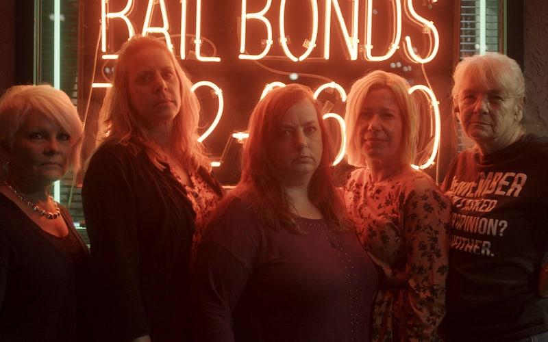Ellen, Sandi, Tracy, Sabrina, and Carla in Love Fraud's final episode.