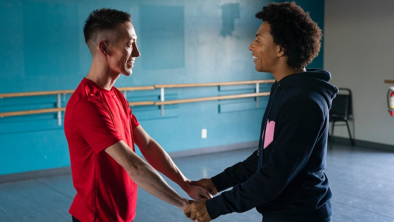 Charles Redding gets encouragement from Shangela Laquifa Wadley during We're Here episode 3