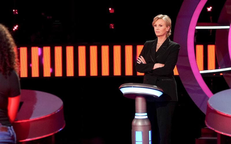 Jane Lynch on the first episode of NBC's Weakest Link reboot.