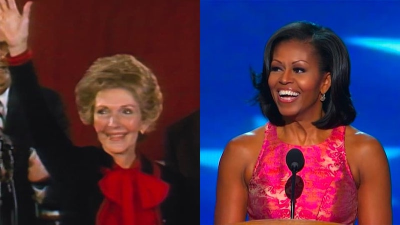 Nancy Reagan and Michelle Obama in CNN's new documentary series First Ladies