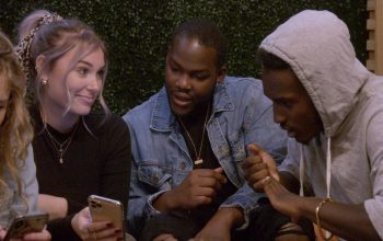 Cheyanna Clearbrooke, Daequan Taylor, and Rodney Burford hanging out on Netflix's reality series Deaf U