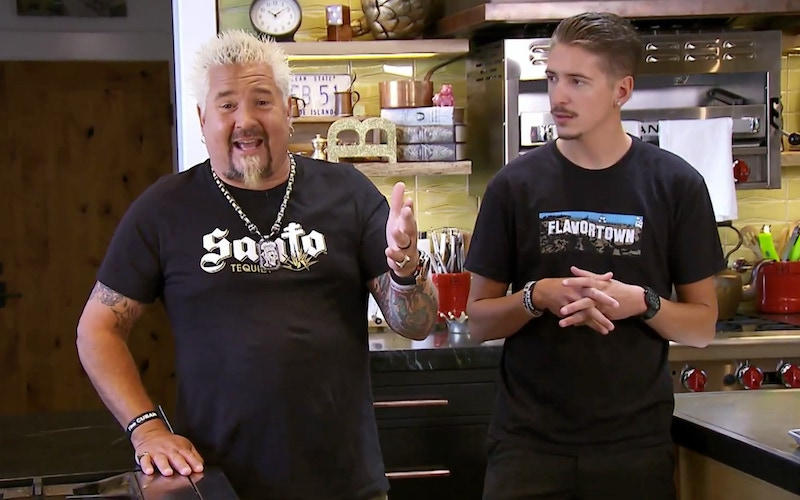 Guy Fieri and his Guy's Grocery Games: Delivery co-host, Hunter Fieri