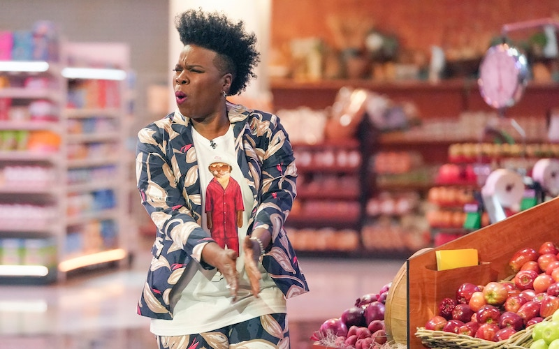 Leslie Jones, host and executive producer of ABC's revival of Supermarket Sweep