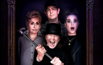 The Osbourne family members—Sharon, Jack, Kelly, and Ozzy—are back together on reality TV for The Osbournes: Night of Terror