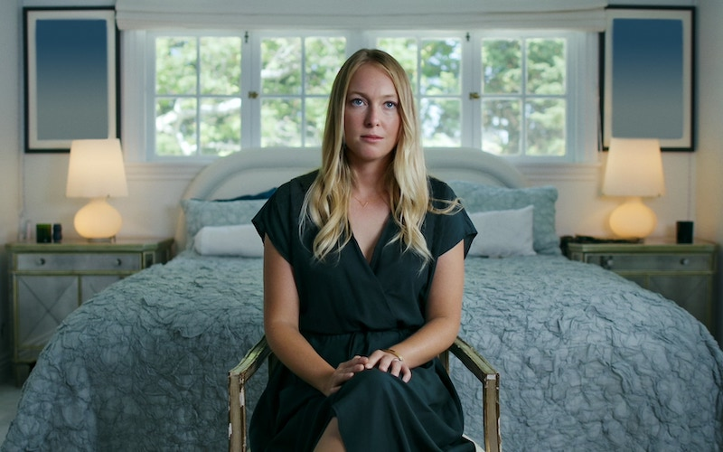 India Oxenberg being interviewed on Seduced: Inside the NXIVM Cult
