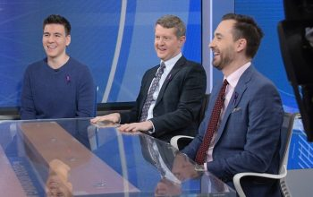 James Holzhauer, Ken Jennings, and Brad Rutter on Good Morning America