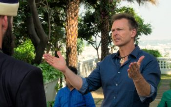 Phil Keoghan asks Riley and Maddison about the alliance at the end of The Amazing Race 32's mega leg