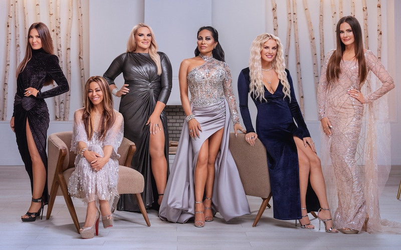 The Real Housewives of Salt Lake City season 1's cast: Lisa Barlow, Mary Cosby, Heather Gay, Jen Shah, Whitney Rose, and Meredith Marks