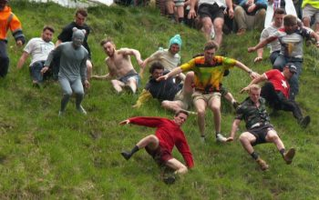 "The ""Cheese Rolling"" episode of Netflix's We Are the Champions, which follows people who participate in the Cooper's Hill Cheese-Rolling and Wake"