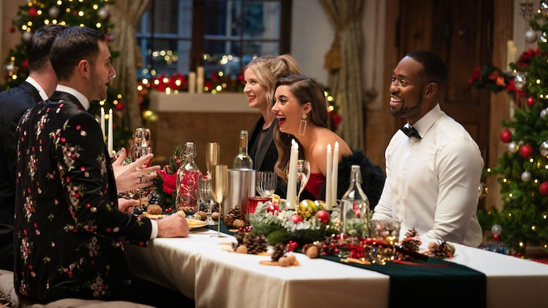 Corey Lay joins dinner after being revealed as one of Garrett's suitors on 12 Dates of Christmas