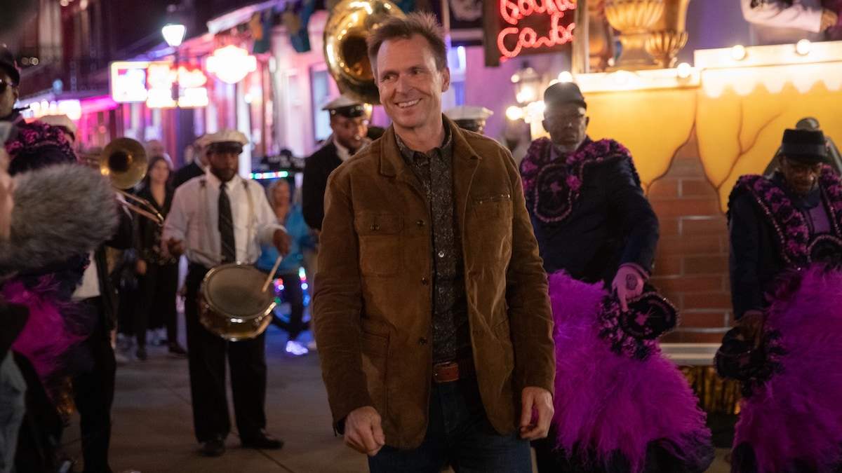 Phil Keoghan on Bourbon Street in New Orleans during the Amazing Race 32 finale