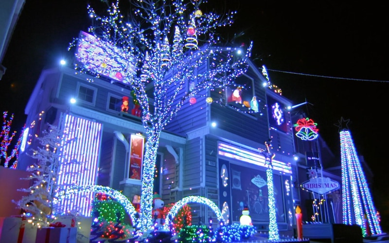 The Doody family's house in Las Vegas, Nevada, as seen on The Great Christmas Light Fight season 8