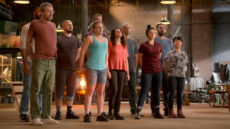 The only cast photo Netflix released of Blown Away season 2's contestants doesn't actually show all of the cast members, which I think say something about Netflix's baffling lack of investment in this show.