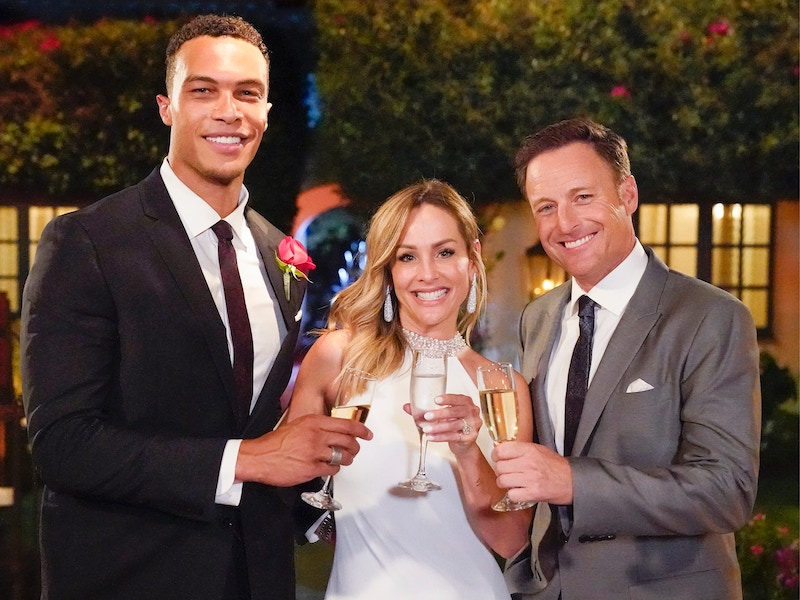 Dale Moss, Clare Crawley, and a guy I'm beginning to think might be bad luck, Chris Harrison
