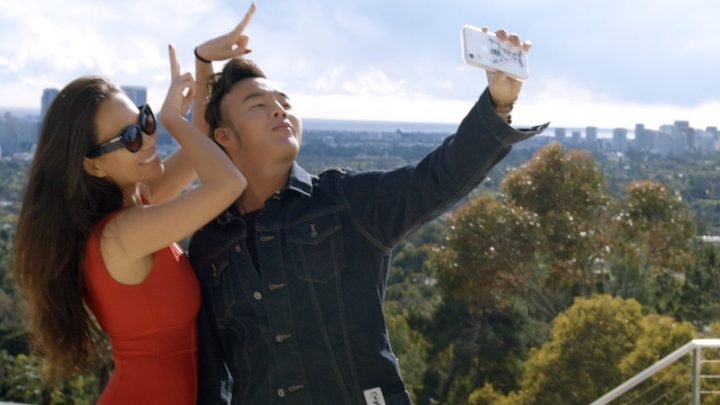 Kelly Mi Li and Kane Lim in Bling Empire's first episode,