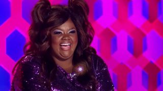 Nicole Byer at the judge's table during RuPaul's Drag Race season 13, episode 5.