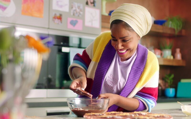 "Nadiya Hussain in the ""Biscuits and Bites"" episode of Nadiya Bakes"